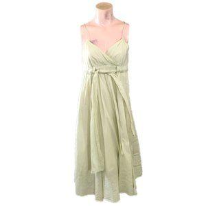 Diane Von Furstenberg Green Cotton Midi Dress
